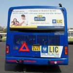Delhi HOHO Buses Carrying LIC's Message