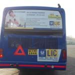 LIC ad on Delhi HOHO Buses