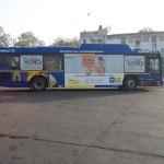 LIC ads on Delhi HOHO Buses